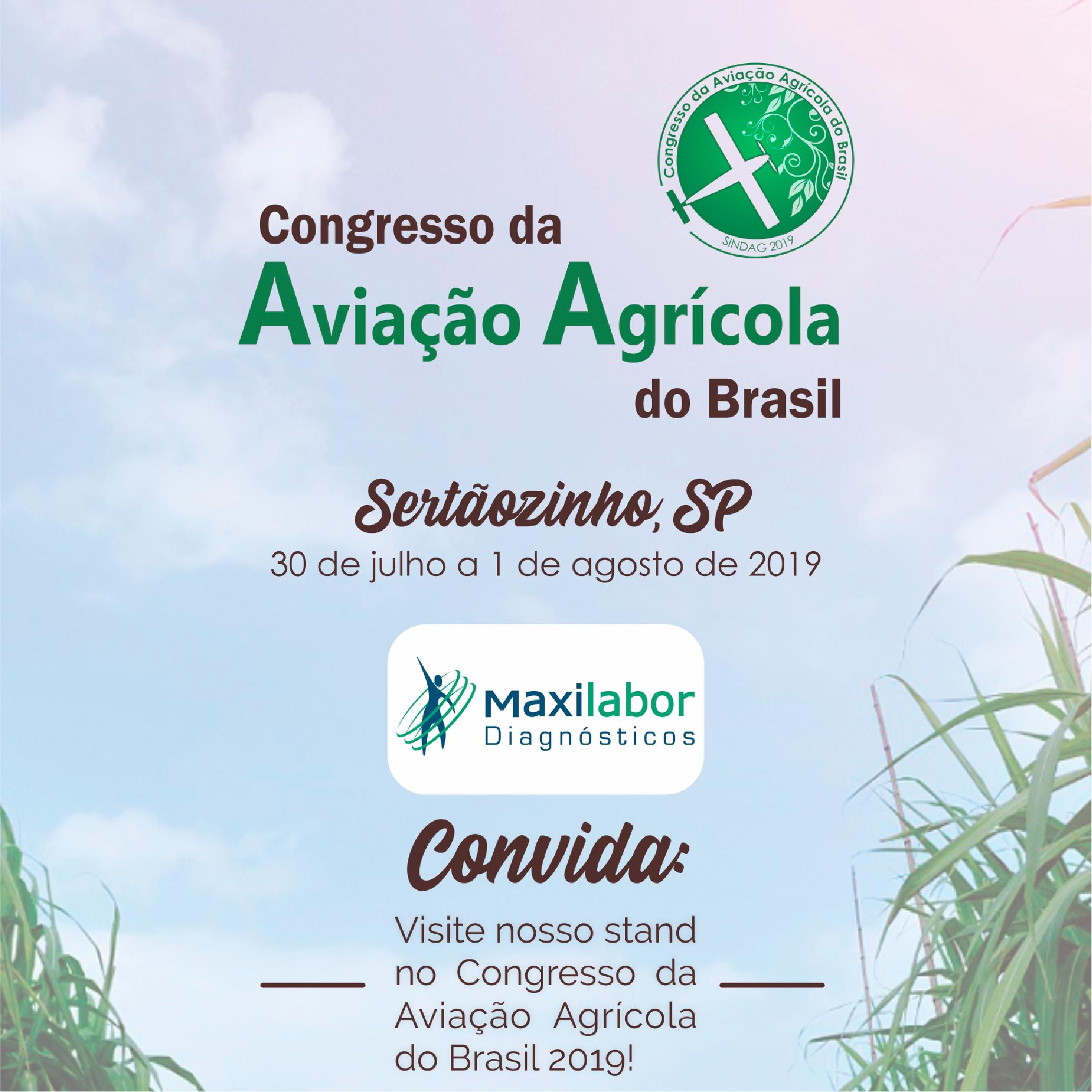 Maxilabor no Congresso de Aviação Agrícola